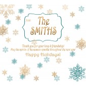 Custom Label - Gold Snowflakes - pack of 12